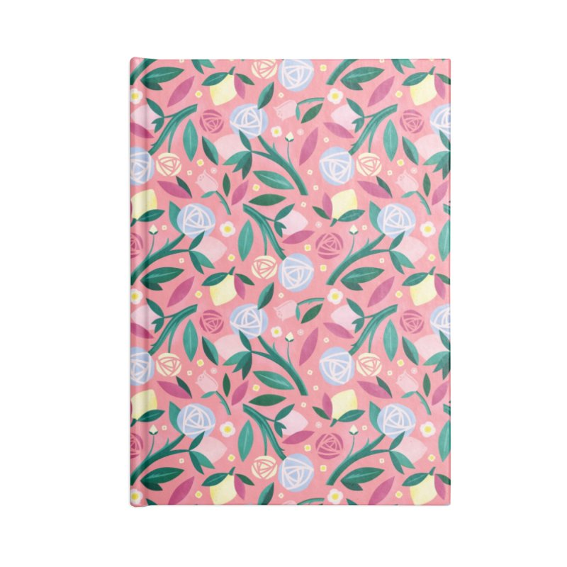 Lemon Roses Blue Accessories Notebook by carlywatts's Shop