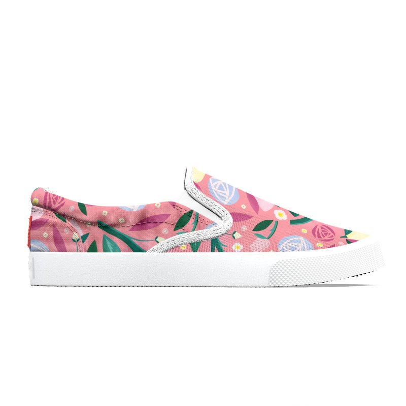 Lemon Roses Blue Men's Shoes by carlywatts's Shop