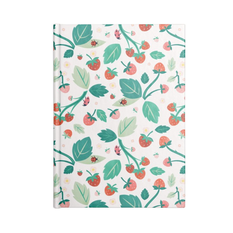 Strawberry Season Accessories Notebook by carlywatts's Shop