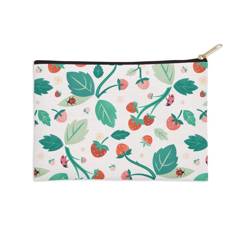 Strawberry Season Accessories Zip Pouch by carlywatts's Shop