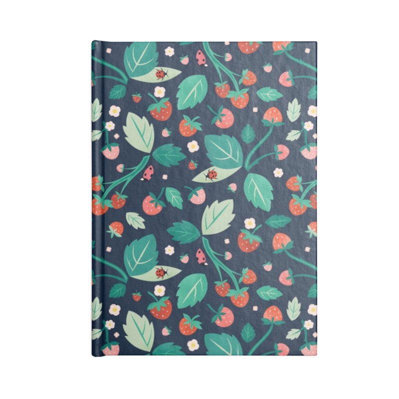Strawberry Season Navy Accessories Notebook by carlywatts's Shop