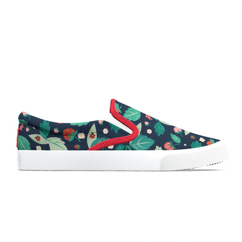 Strawberry Season Navy Men's Shoes by carlywatts's Shop