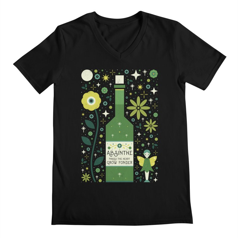 Absinthe  Men's V-Neck by carlywatts's Shop