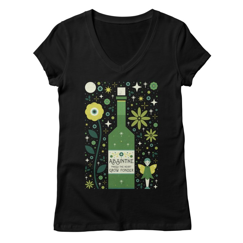 Absinthe  Women's V-Neck by carlywatts's Shop