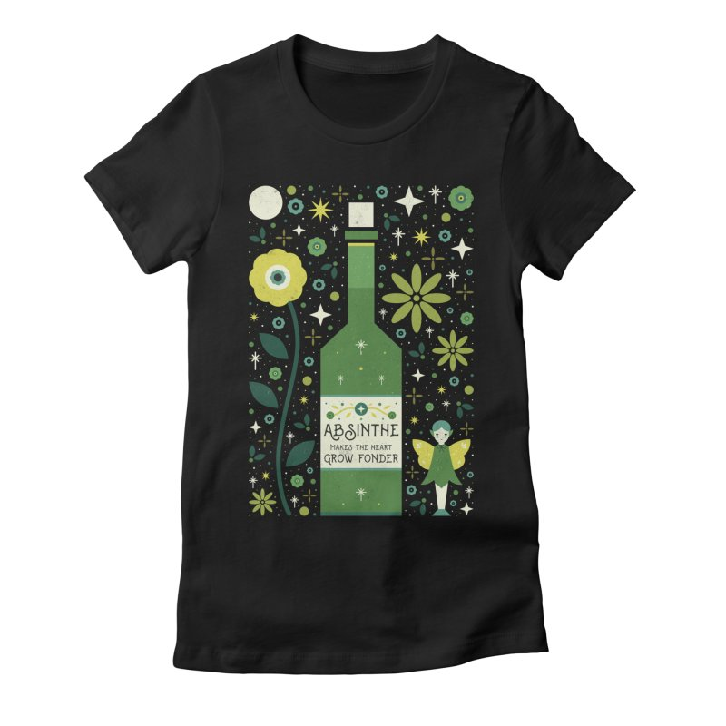 Absinthe  Women's Fitted T-Shirt by carlywatts's Shop