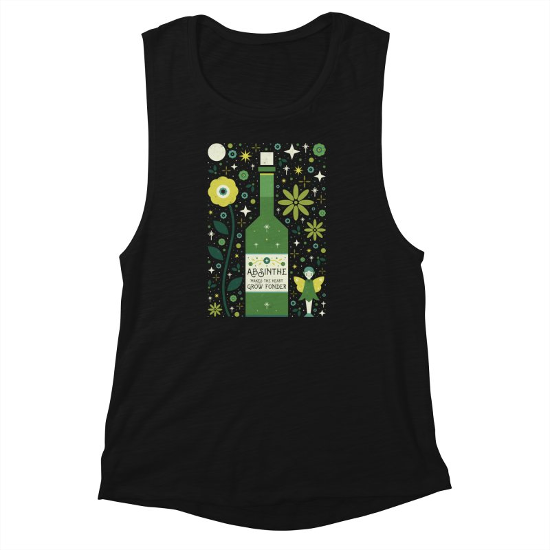 Absinthe  Women's Muscle Tank by carlywatts's Shop