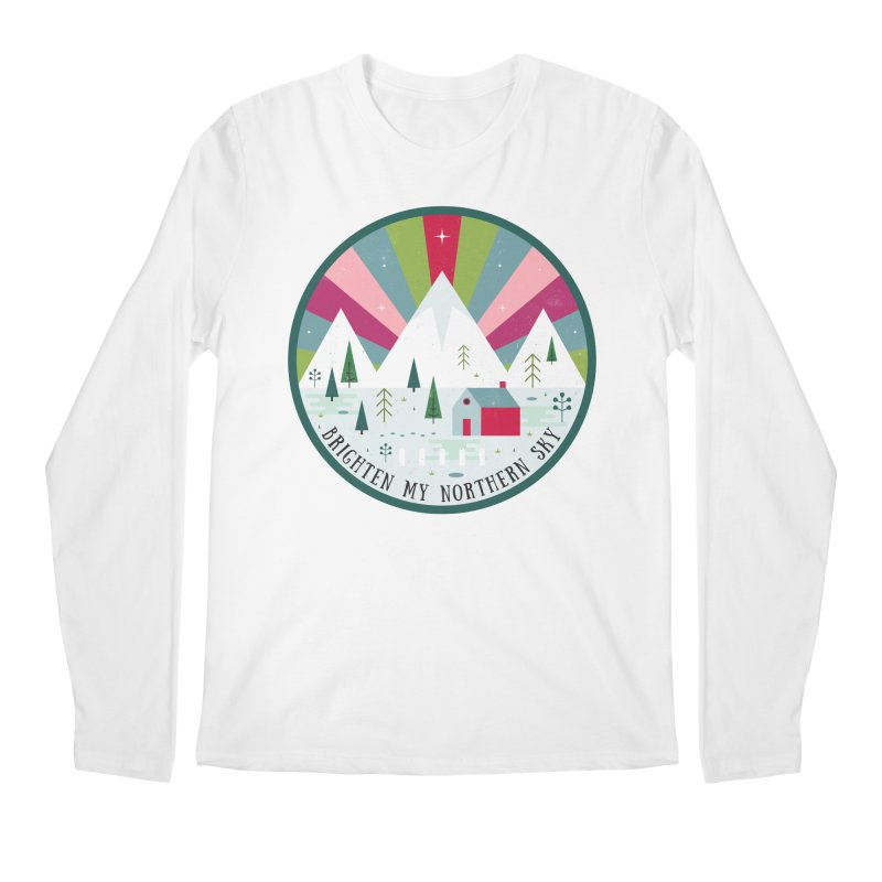 Brighten My Northern Sky  Men's Longsleeve T-Shirt by carlywatts's Shop