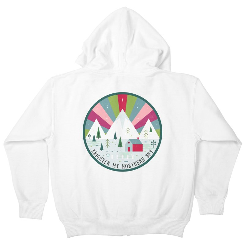 Brighten My Northern Sky  Kids Zip-Up Hoody by carlywatts's Shop