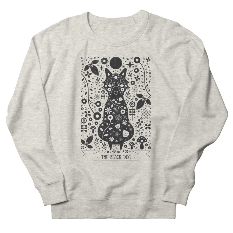 The Black Dog  Men's Sweatshirt by carlywatts's Shop