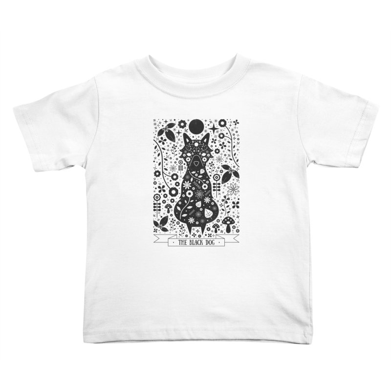 The Black Dog  Kids Toddler T-Shirt by carlywatts's Shop