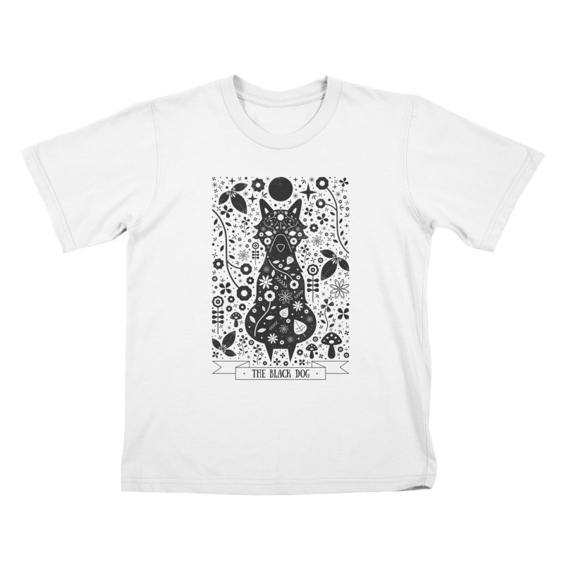 The Black Dog  Kids T-Shirt by carlywatts's Shop