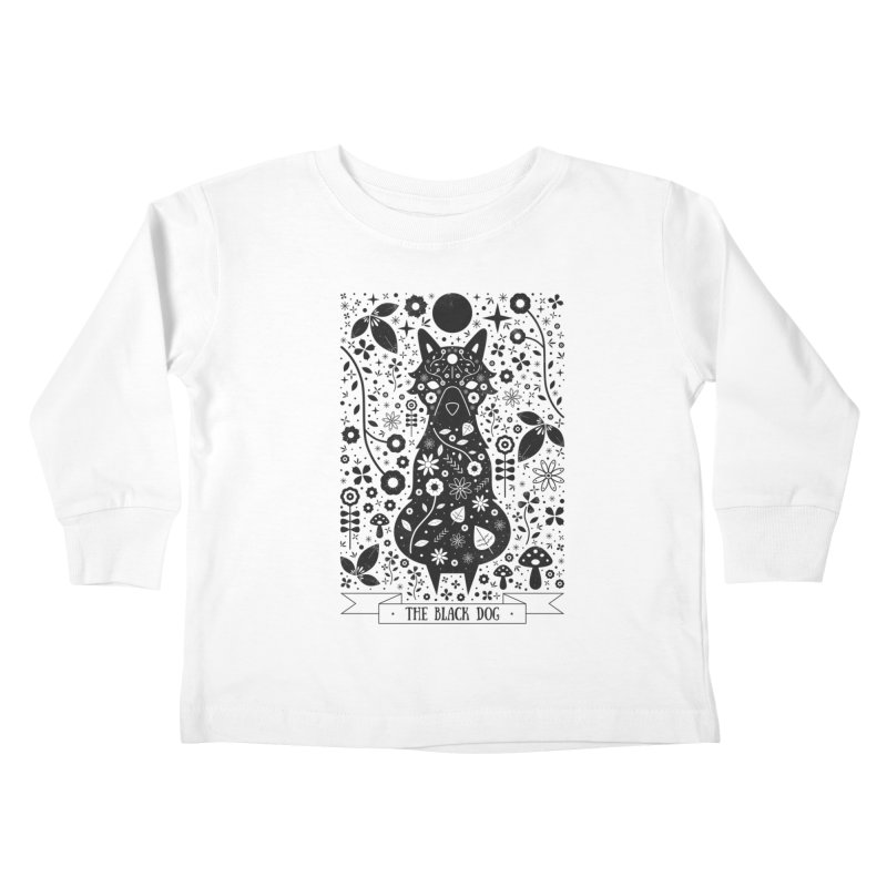 The Black Dog  Kids Toddler Longsleeve T-Shirt by carlywatts's Shop