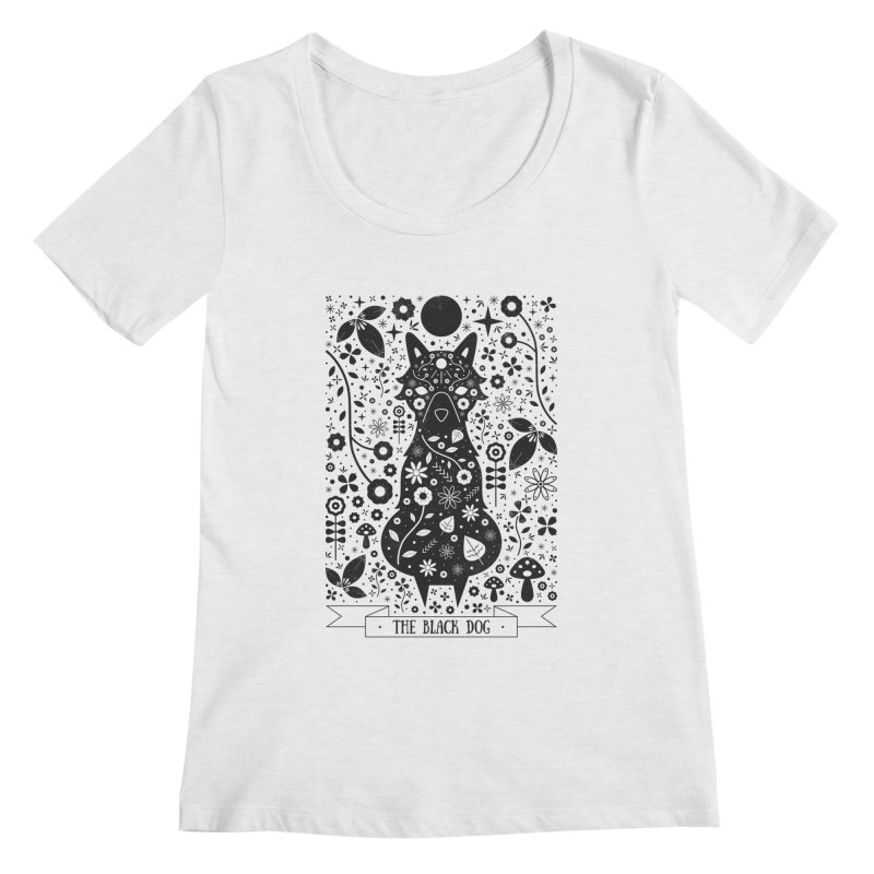 The Black Dog  Women's Scoopneck by carlywatts's Shop