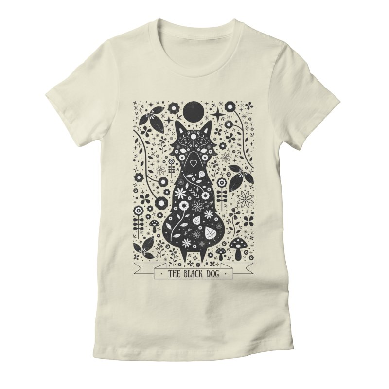 The Black Dog  Women's Fitted T-Shirt by carlywatts's Shop