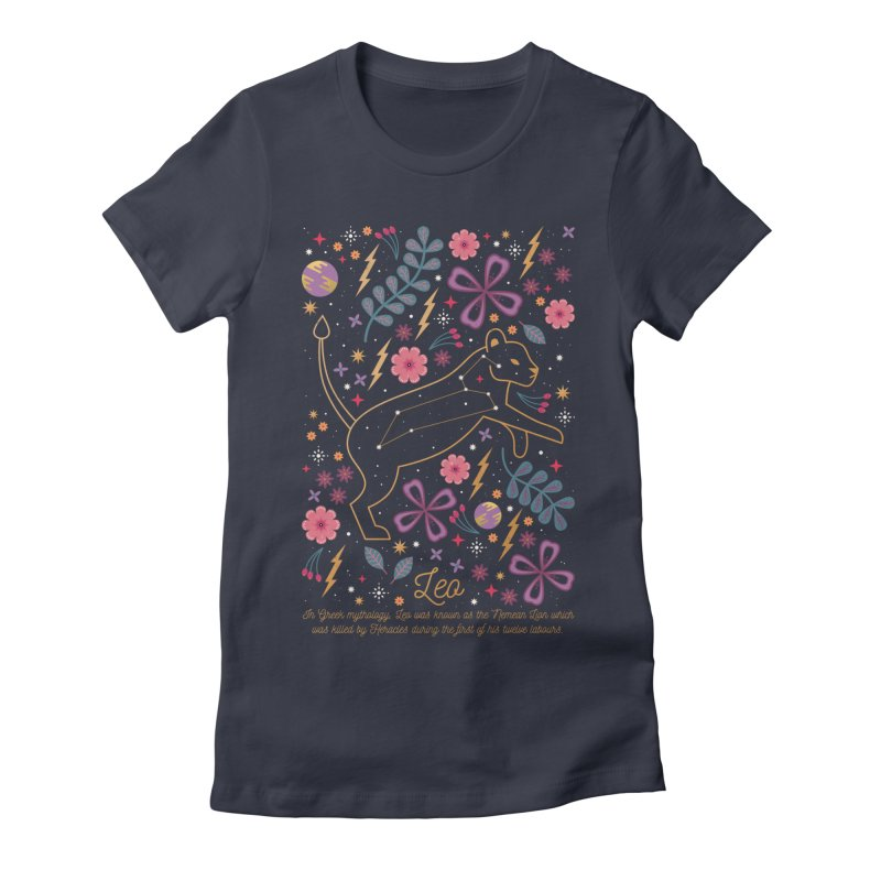 Leo Women's Fitted T-Shirt by carlywatts's Shop