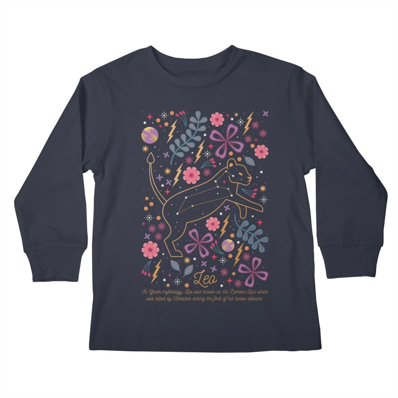 Leo Kids Longsleeve T-Shirt by carlywatts's Shop