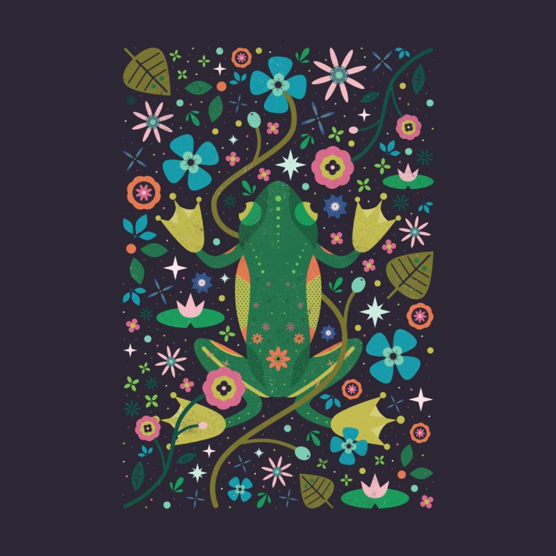 Botanical Frog  Women's Triblend T-shirt by carlywatts's Shop