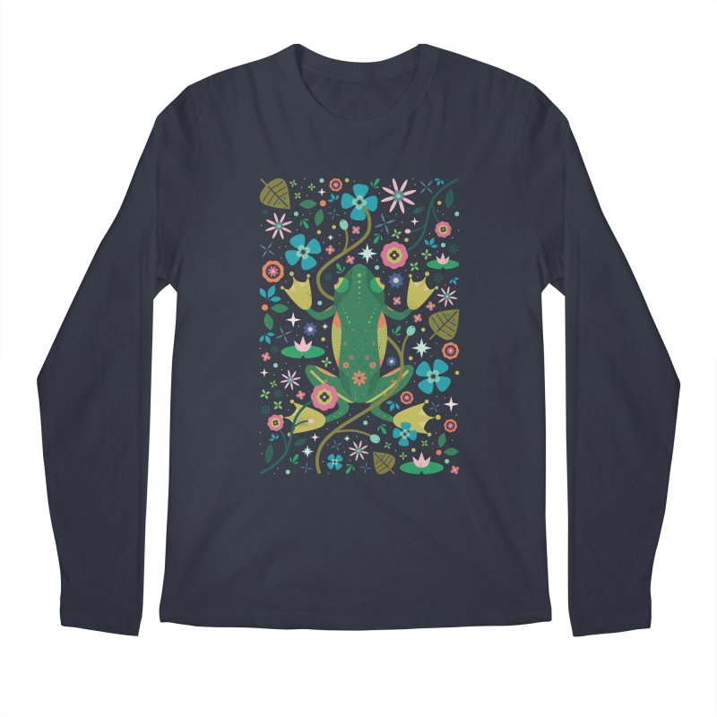 Botanical Frog  Men's Longsleeve T-Shirt by carlywatts's Shop