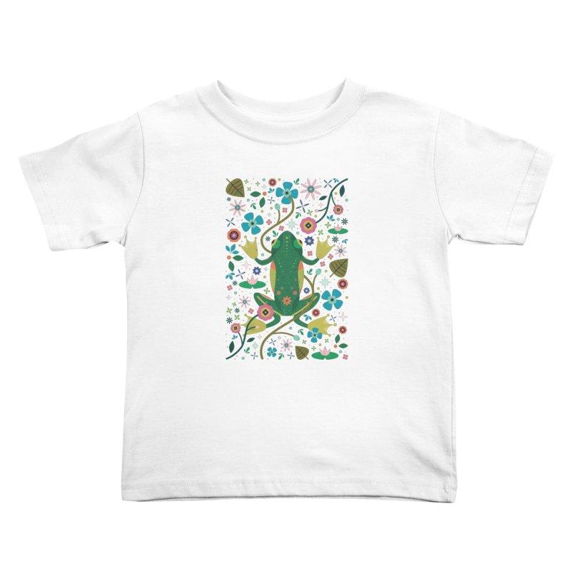 Botanical Frog  Kids Toddler T-Shirt by carlywatts's Shop