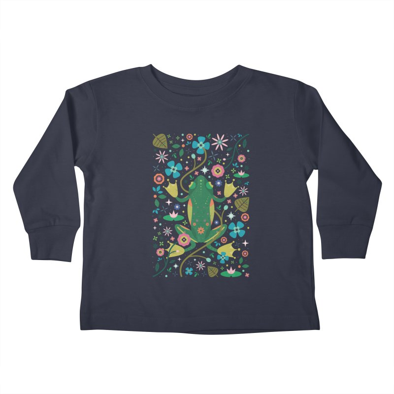 Botanical Frog  Kids Toddler Longsleeve T-Shirt by carlywatts's Shop