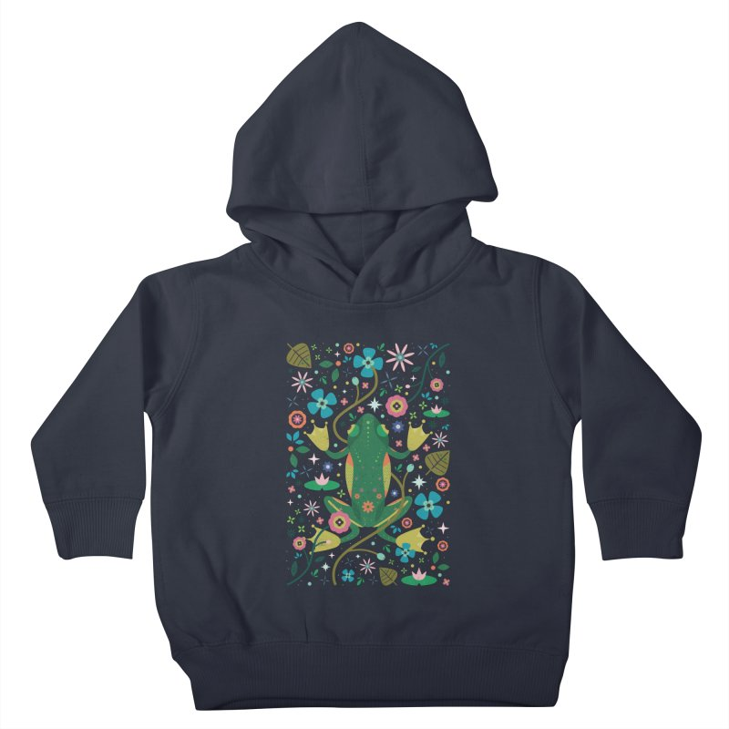 Botanical Frog  Kids Toddler Pullover Hoody by carlywatts's Shop