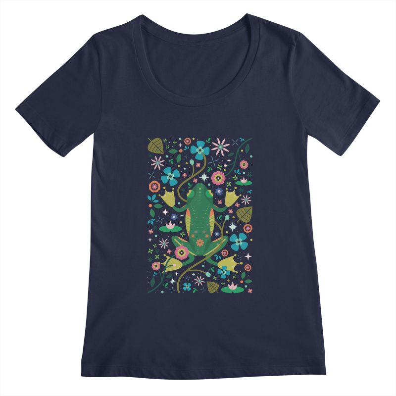 Botanical Frog  Women's Scoopneck by carlywatts's Shop