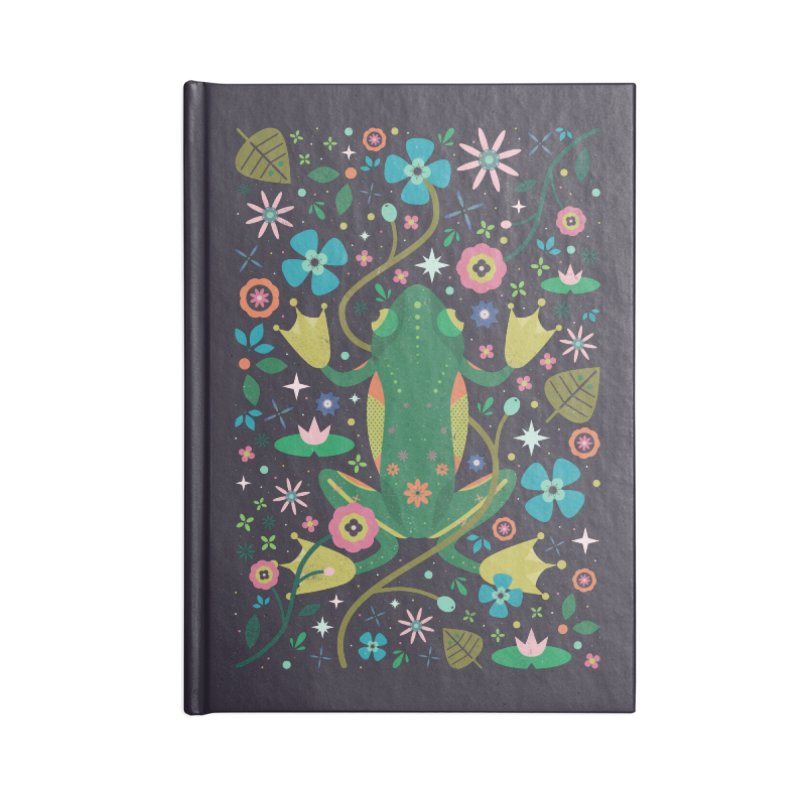 Botanical Frog  Accessories Notebook by carlywatts's Shop