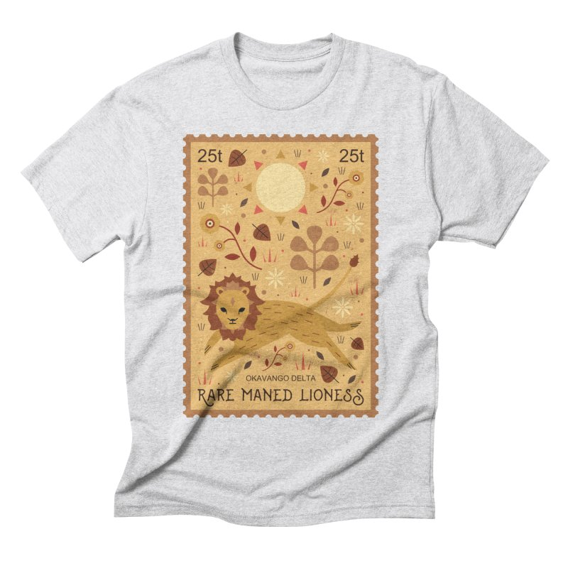 Rare Maned Lioness  Men's Triblend T-shirt by carlywatts's Shop