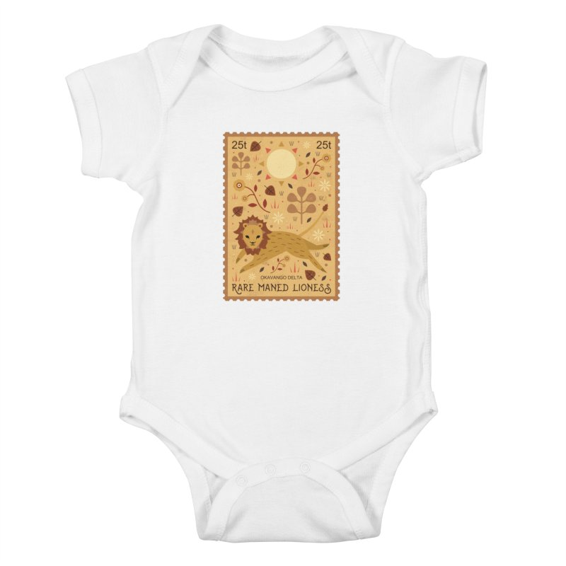 Rare Maned Lioness  Kids Baby Bodysuit by carlywatts's Shop