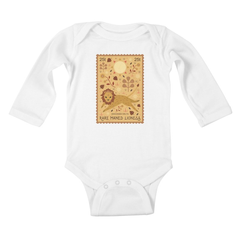 Rare Maned Lioness  Kids Baby Longsleeve Bodysuit by carlywatts's Shop