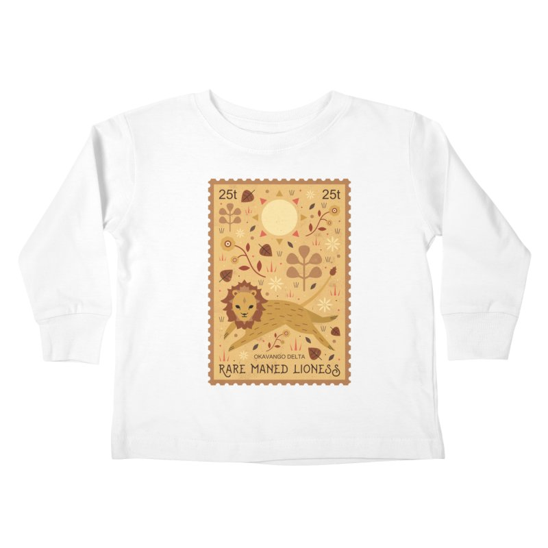 Rare Maned Lioness  Kids Toddler Longsleeve T-Shirt by carlywatts's Shop
