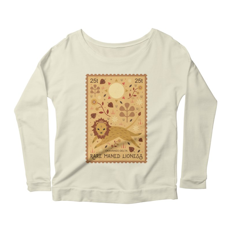 Rare Maned Lioness  Women's Longsleeve Scoopneck  by carlywatts's Shop