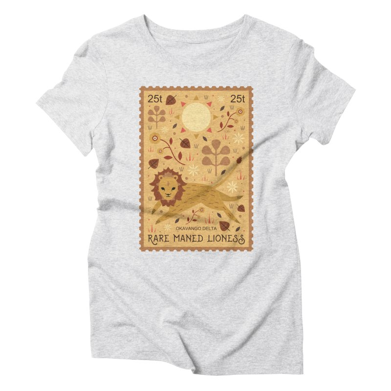 Rare Maned Lioness  Women's Triblend T-Shirt by carlywatts's Shop