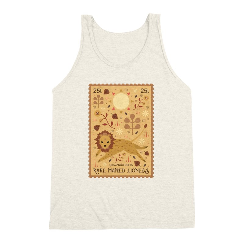 Rare Maned Lioness  Men's Triblend Tank by carlywatts's Shop