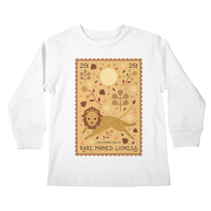 Rare Maned Lioness  Kids Longsleeve T-Shirt by carlywatts's Shop