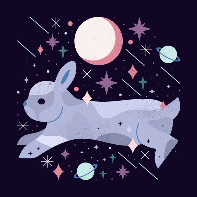 Celestial Bunny  by carlywatts's Shop