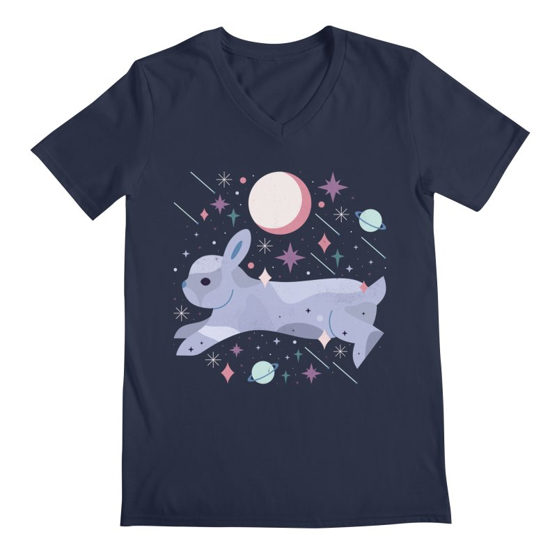 Celestial Bunny  Men's V-Neck by carlywatts's Shop