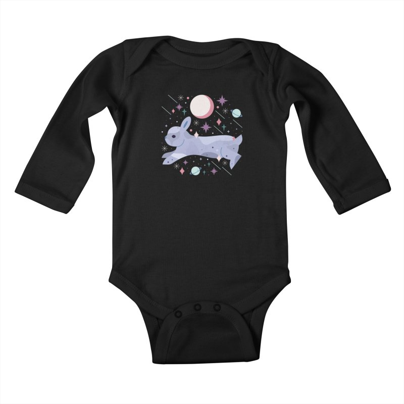 Celestial Bunny  Kids Baby Longsleeve Bodysuit by carlywatts's Shop