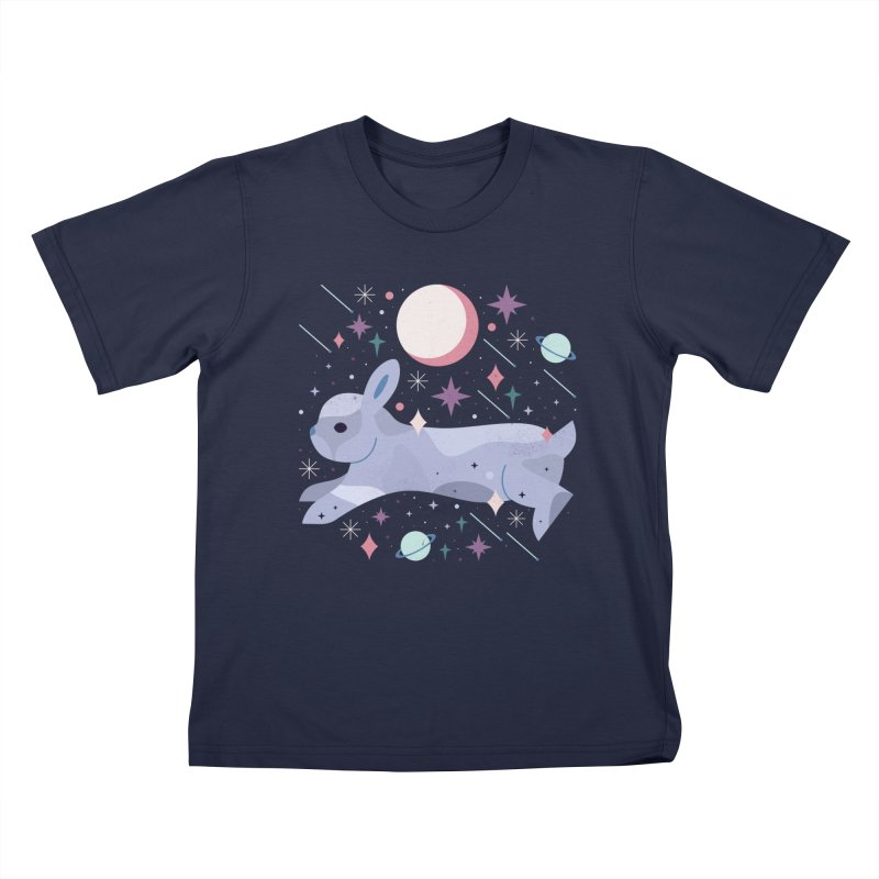 Celestial Bunny  Kids T-shirt by carlywatts's Shop