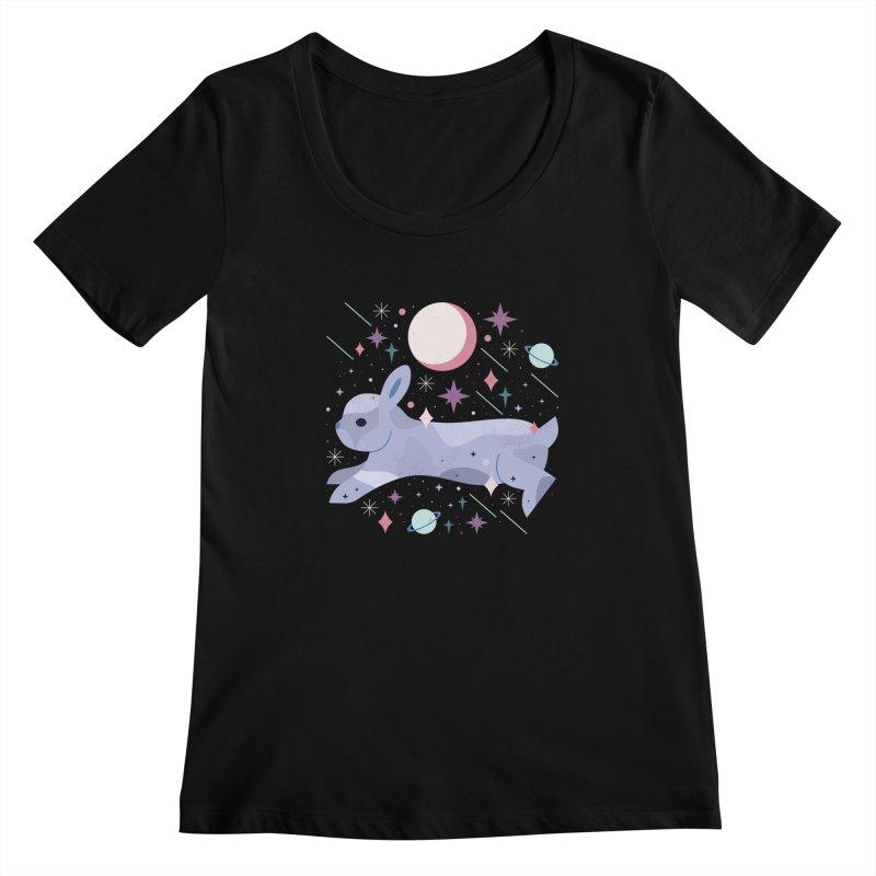 Celestial Bunny  Women's Scoopneck by carlywatts's Shop
