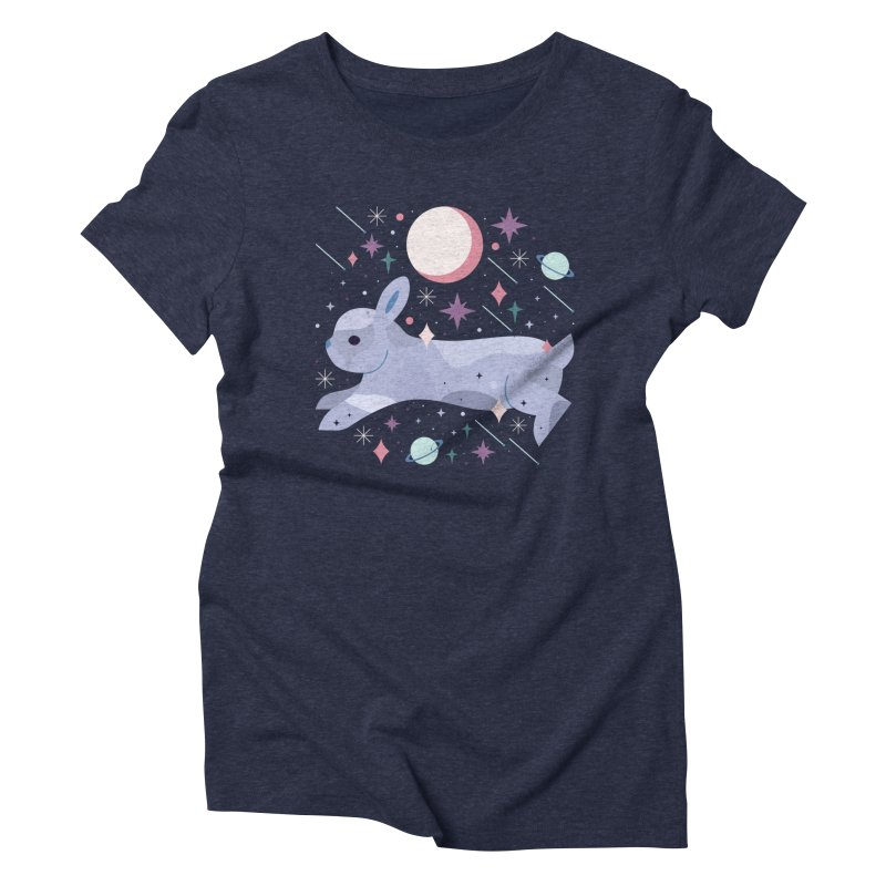 Celestial Bunny  Women's Triblend T-Shirt by carlywatts's Shop