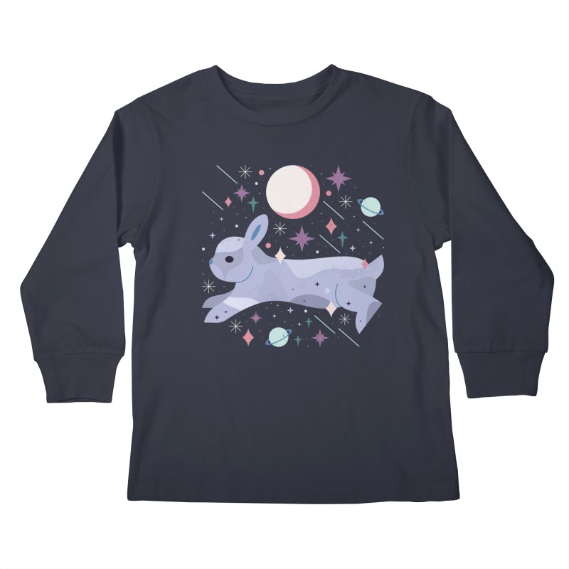 Celestial Bunny  Kids Longsleeve T-Shirt by carlywatts's Shop