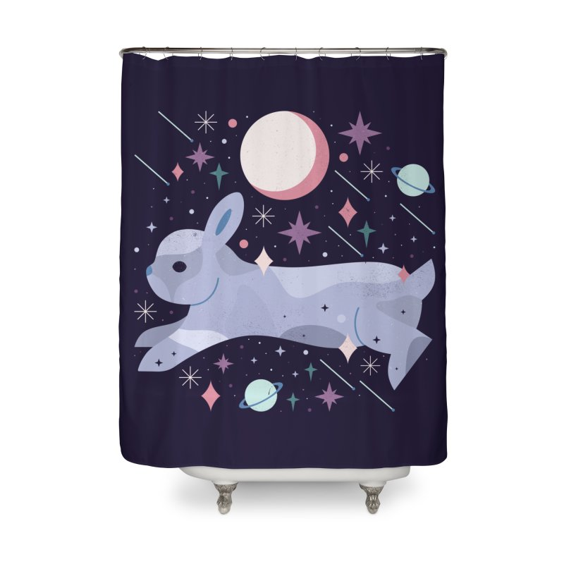 Celestial Bunny  Home Shower Curtain by carlywatts's Shop