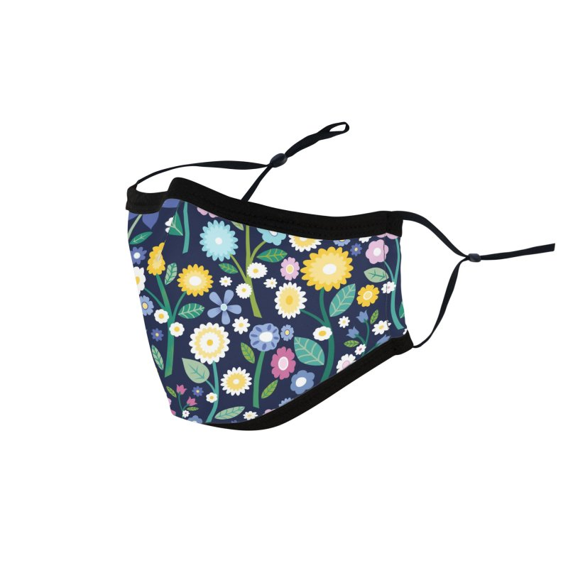 Spring Meadow Navy Accessories Face Mask by carlywatts's Shop