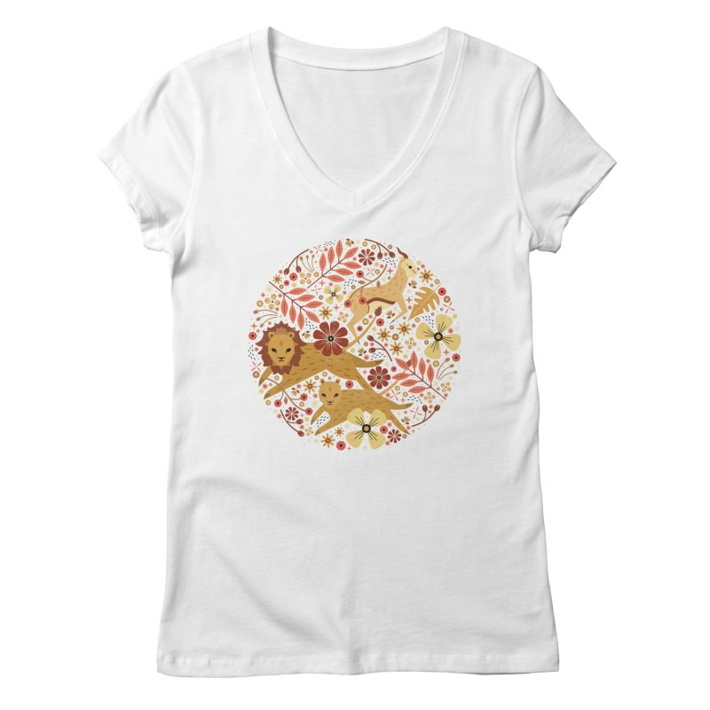 Leeu and Bokkie  Women's V-Neck by carlywatts's Shop