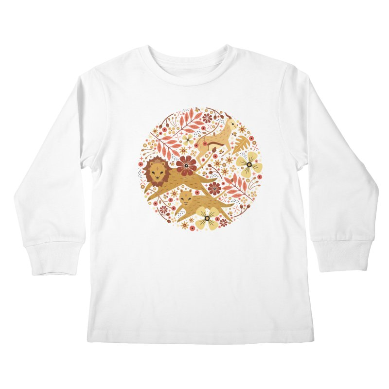 Leeu and Bokkie  Kids Longsleeve T-Shirt by carlywatts's Shop