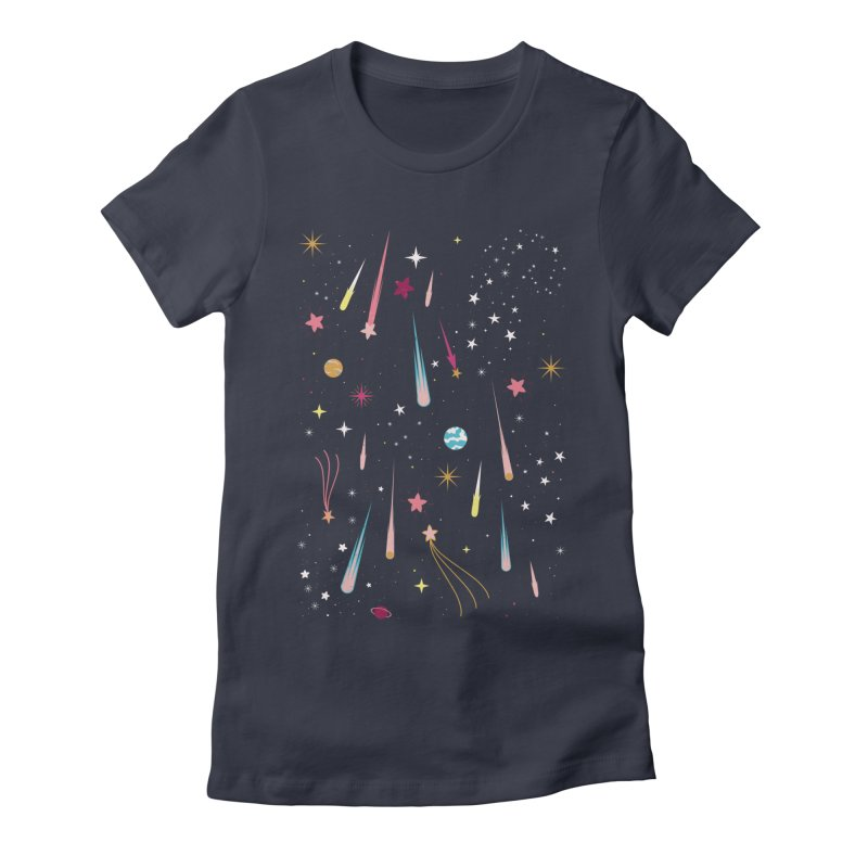 Meteor Shower Women's Fitted T-Shirt by carlywatts's Shop