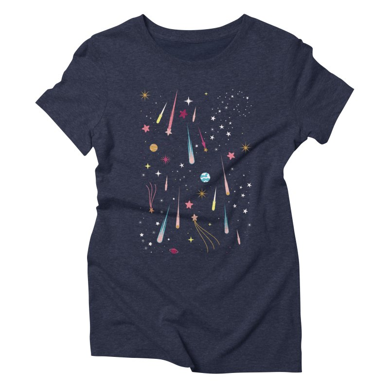 Meteor Shower Women's Triblend T-Shirt by carlywatts's Shop