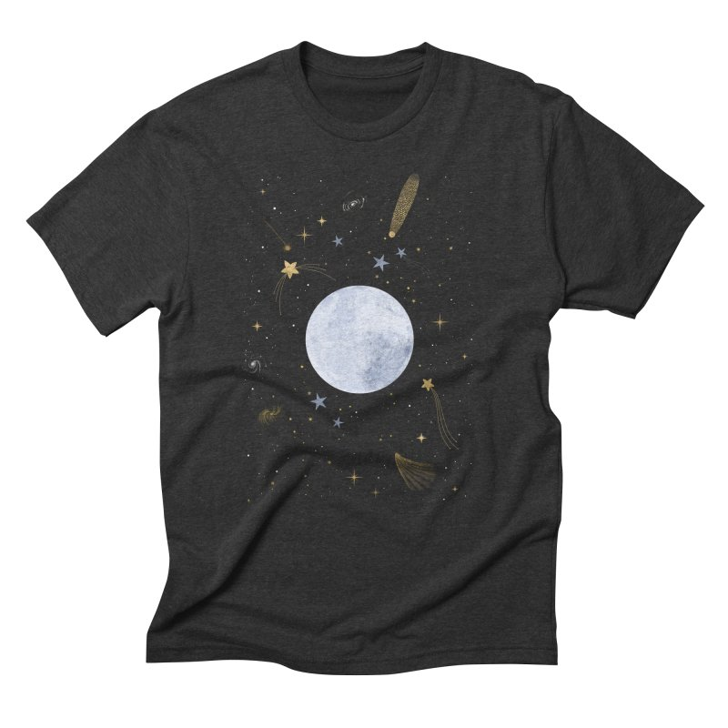 Magic Night Men's Triblend T-Shirt by carlywatts's Shop