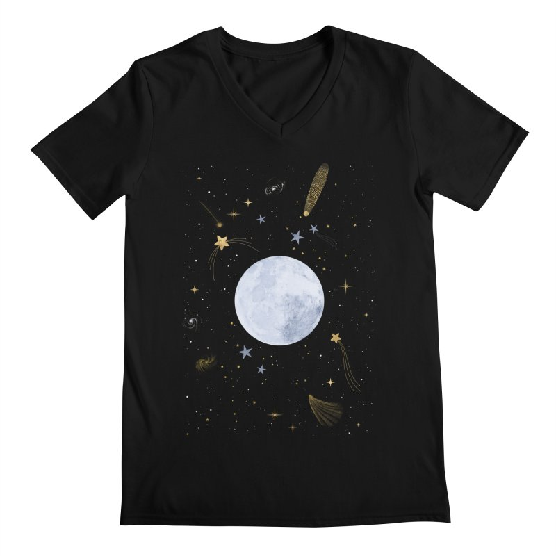 Magic Night Men's V-Neck by carlywatts's Shop